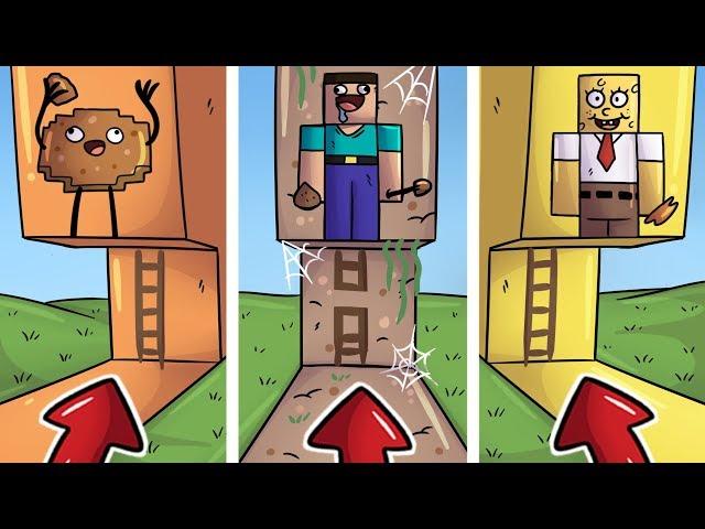 NEVYBER SI ŠPATNÝ ŽEBŘÍK V MINECRAFTU! 😱 (Sušenka, Noob, SpongeBob)