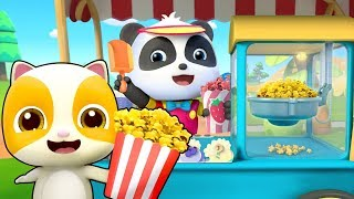 Yummy Popcorn Truck  Learn Colors Colors Song  Ce Cream  Nursery Rhymes  Kids Songs  BabyBus