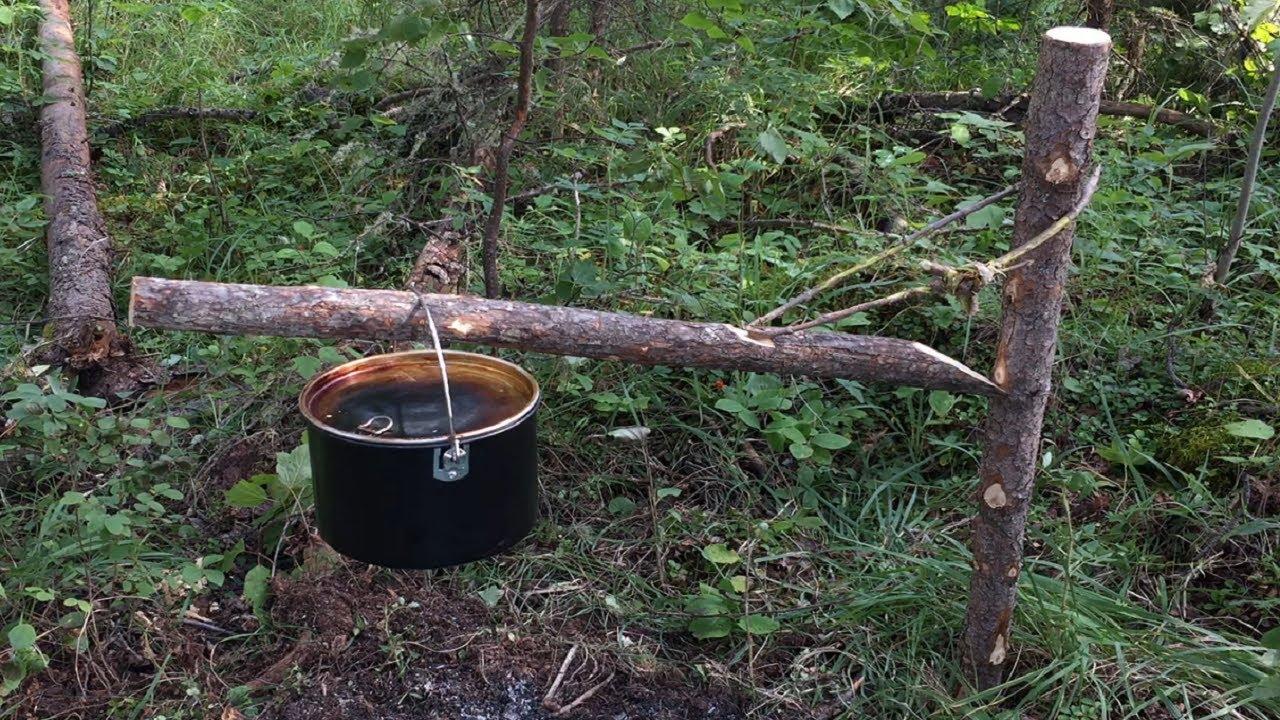 Simplest Bushcraft Pot Hanger (Swinging Arm Pot Hanger)