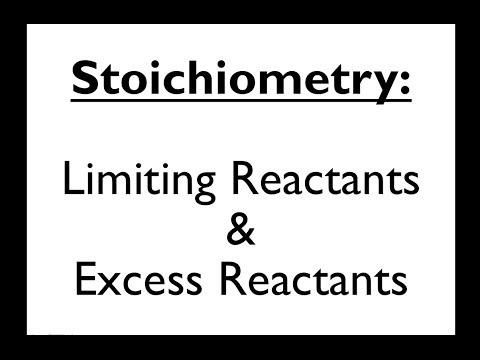 Stoichiometry 6: Limiting Reactant & Excess Reactant