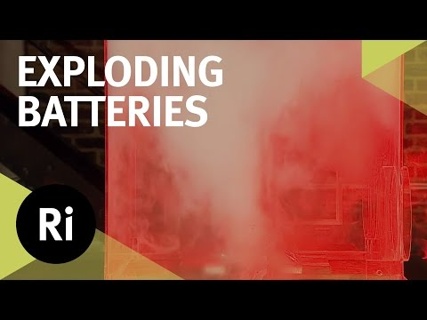Exploding a Lithium Ion Battery - 2016 CHRISTMAS LECTURES