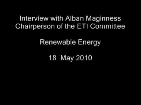 Renewable Energy - Interview with Alban Maginness (Audio Only)