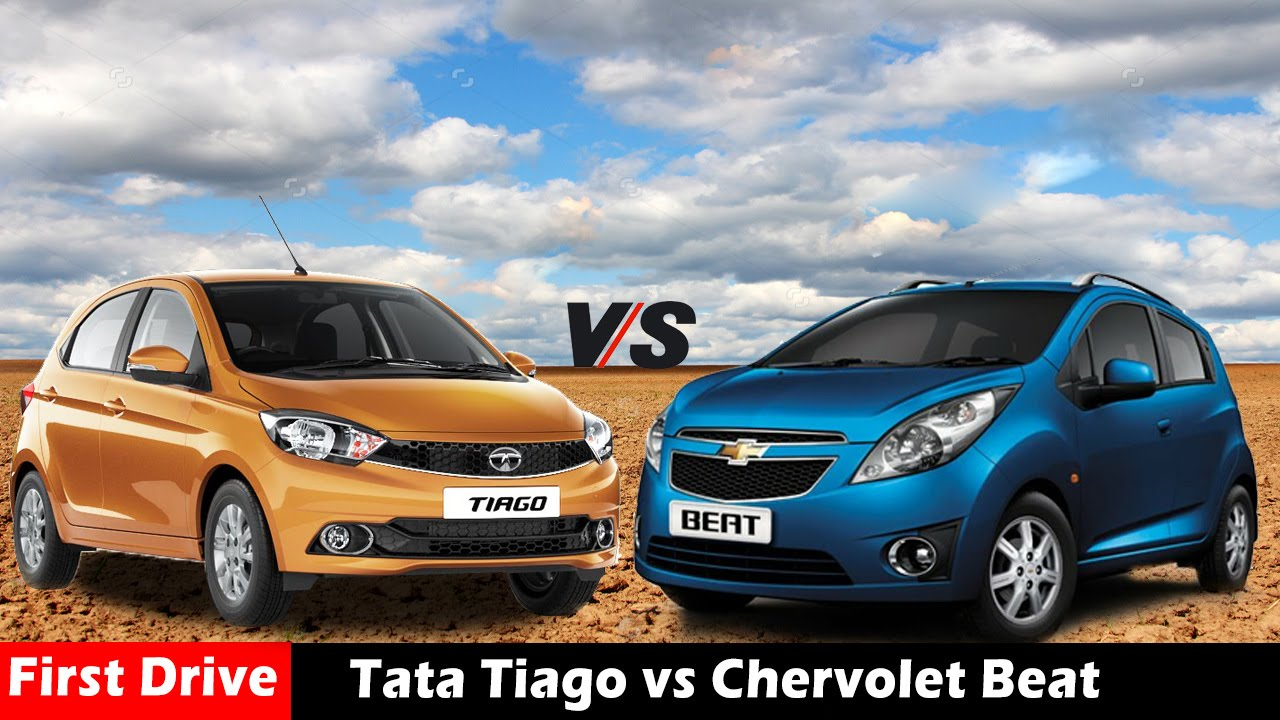 Compare Tata Tiago Vs Chevrolet Beat Diesel First Drive Youtube