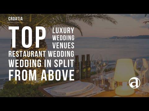 Restaurant by the Adriatic sea | Split | Air Video | Weddings in Croatia antropoti