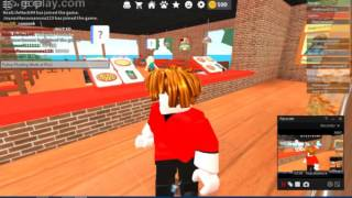 Let's Play Roblox Work At Pizza Place ! part (1) Greek