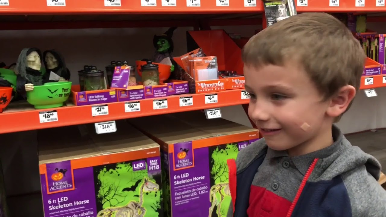 Home Depot Flexible Props : Halloween decorations at home depot youtube