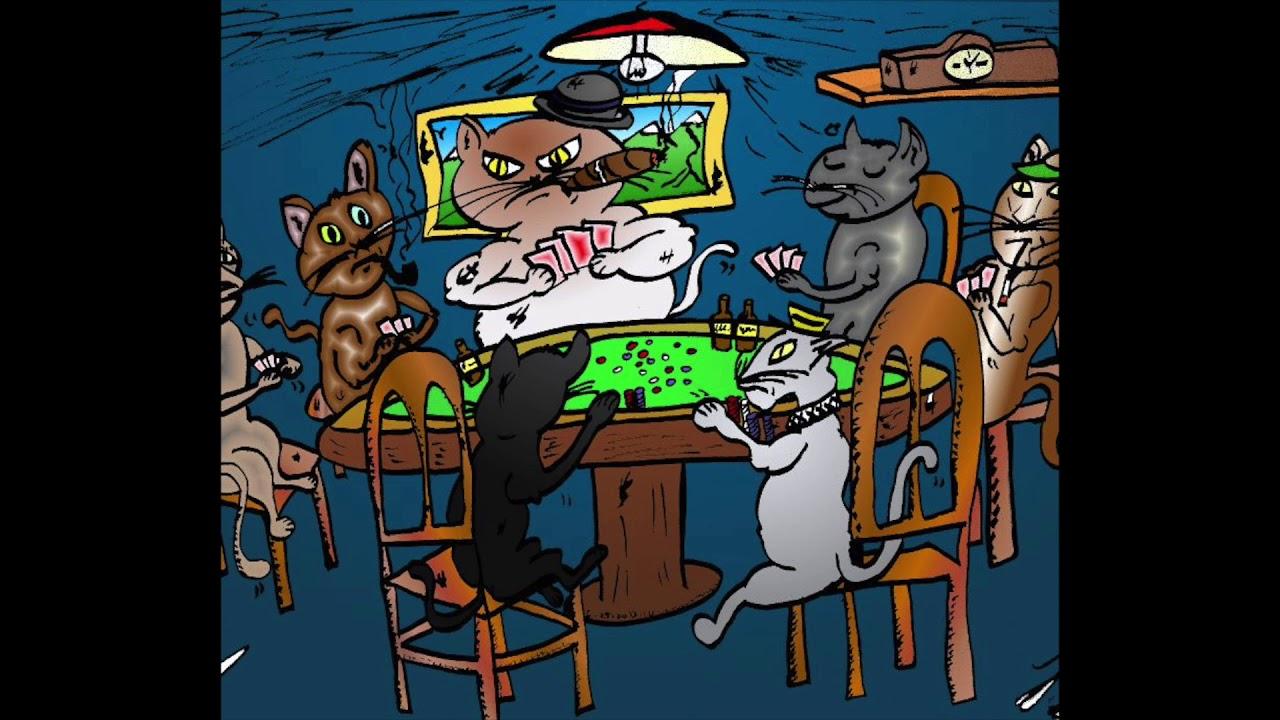 Коты играют в покер картинка
