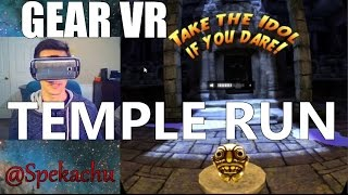 Samsung Gear VR TEMPLE RUN (Free) Game Review(You've played it on your phone...but its a whole other ballgame in virtual reality. You might get embarrassingly scared like I did. But probably not. TEMPLE ..., 2016-03-18T18:51:17.000Z)