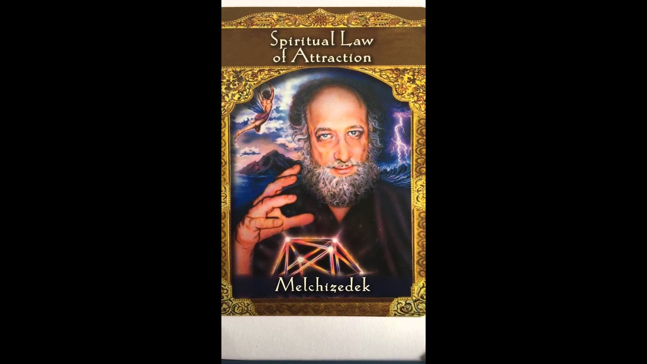 Melchizedek (image from Doreen Virtue Ascended Master Oracle Cards)