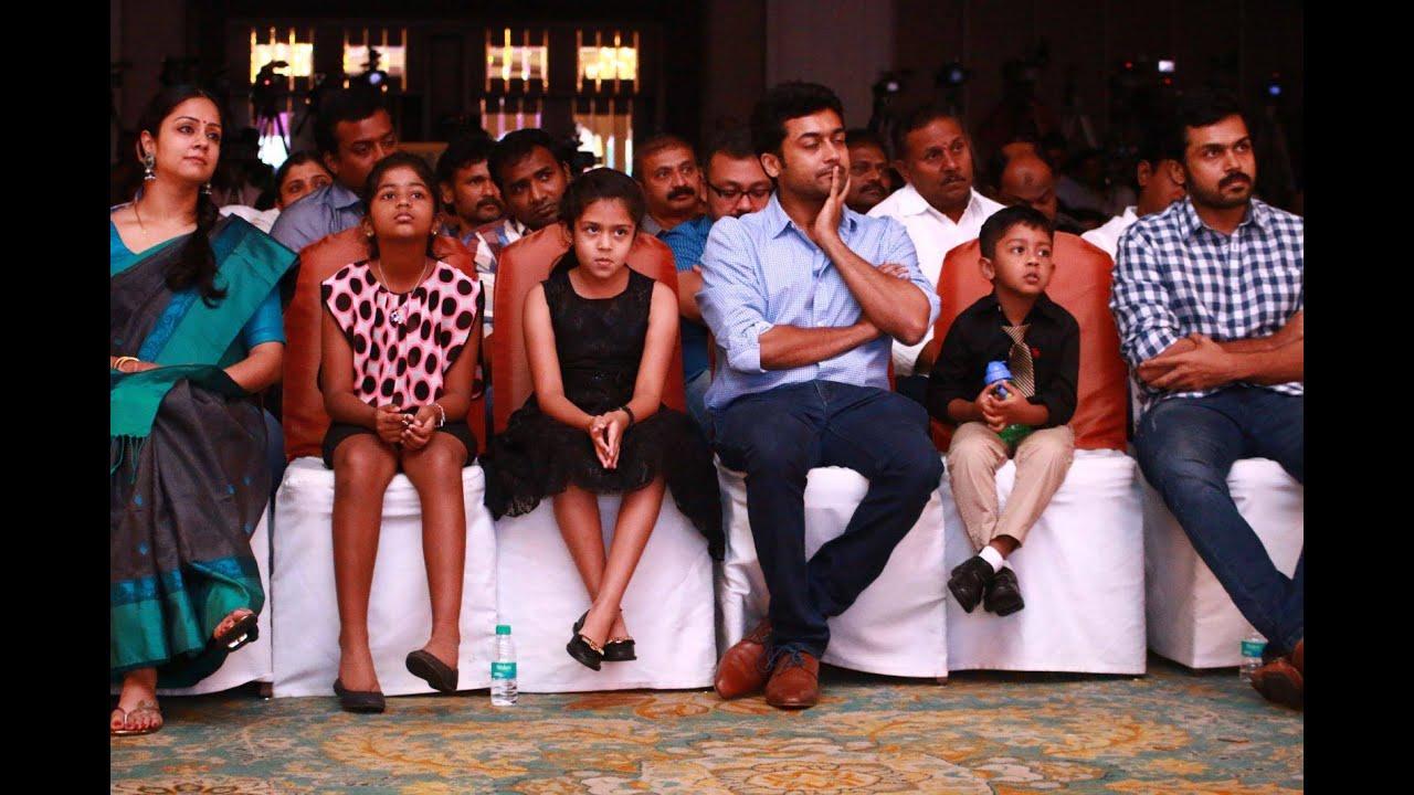 surya amp jyothika family daughter diya son dev youtube