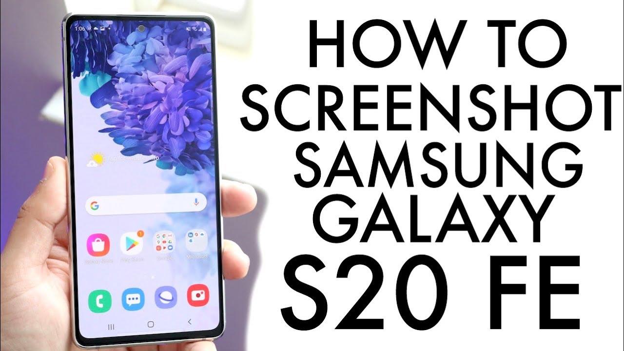 How To Screenshot On Samsung Galaxy S5 FE!