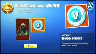 "COMMENT GAGNER 50 000 « V-BUCKS GRATUIT » dans Fortnite Battle Royale! (""SOLO SHOWDOWN"" LTM Gameplay UPDATE)"