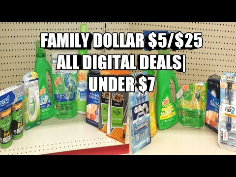 FAMILY DOLLAR $5/$25 ALL DIGITAL SCENARIOS| UNDER $7