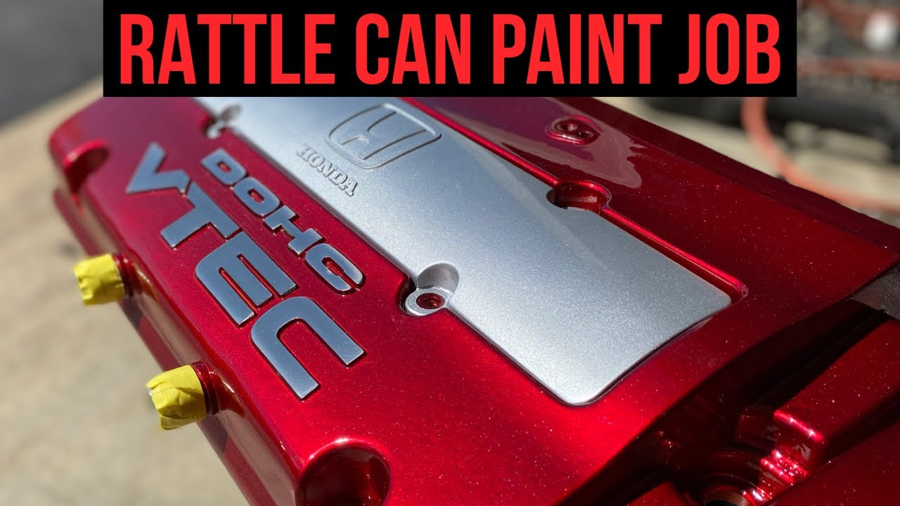 Download Rattle Can DIY Candy Apple Red Painted Valve Cover!