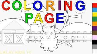 How To Color Cute Cat Animal Coloring Pages Youtube Videos For Kids