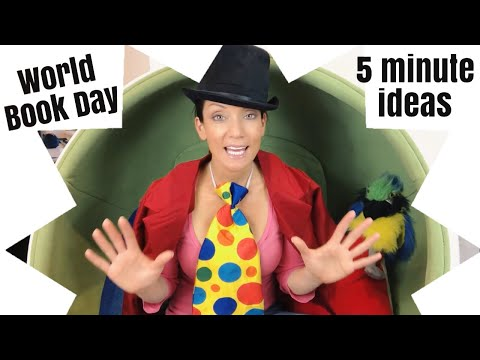 World Book Day costume ideas and props in under five minutes.
