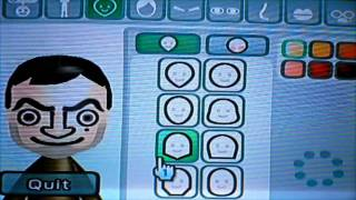 Wii- How to Make a Mr. Bean Mii