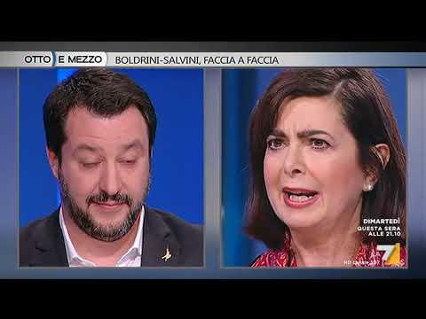 Otto e mezzo - Boldrini - Salvini, faccia a faccia (Puntata 13/02/2018)