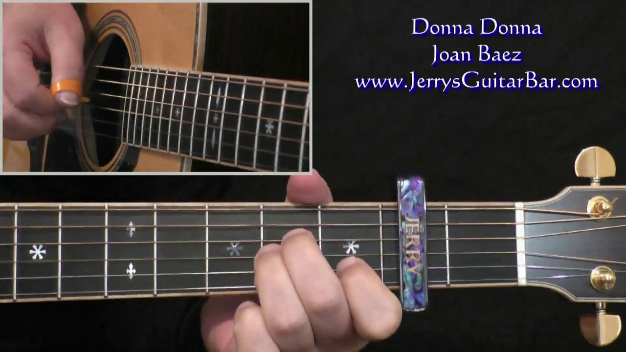 Joan Baez Donna Donna Intro Lesson Youtube