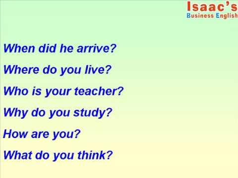 Como preguntar en Inglés con INTERROGARIVOS - YouTube