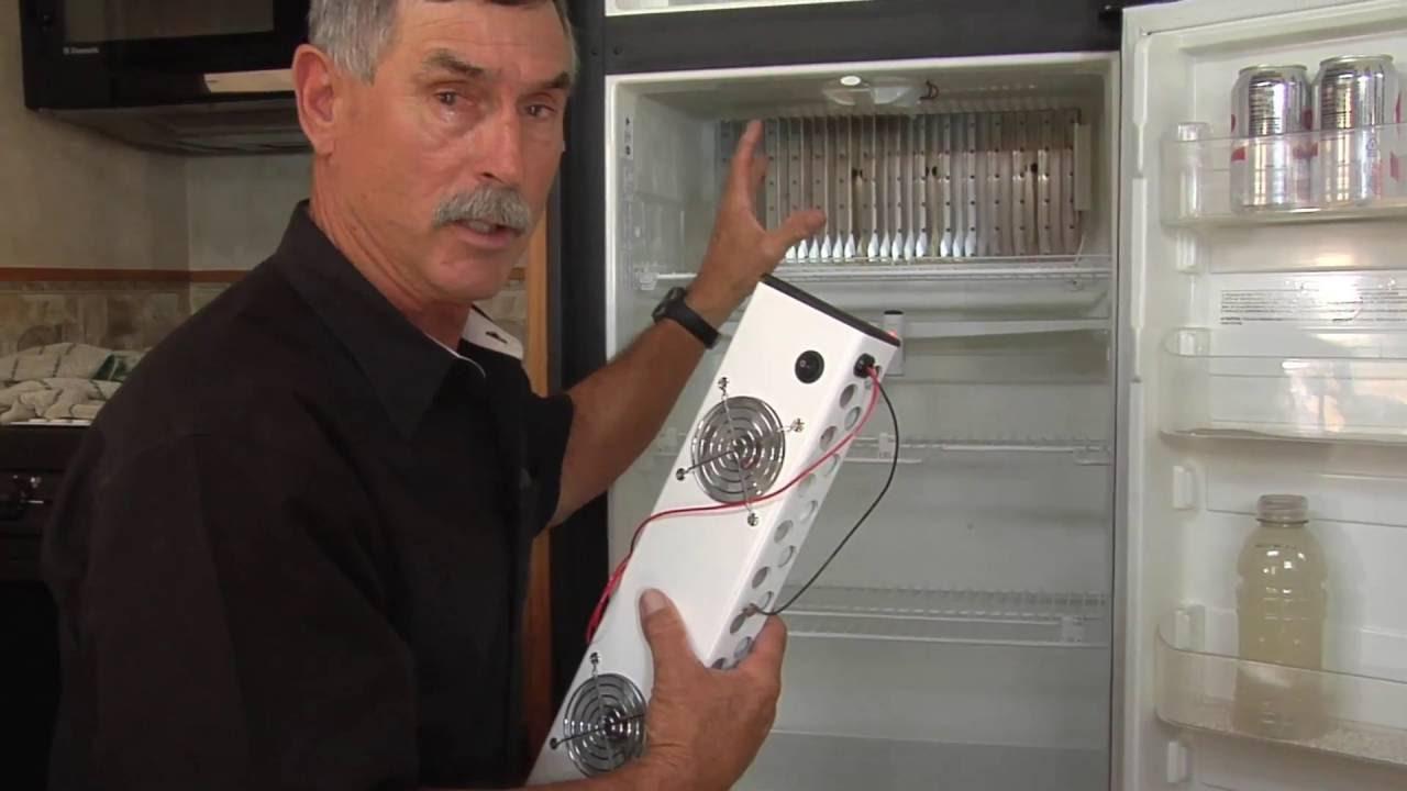 RV Auxiliary Refrigerator Fan Installation