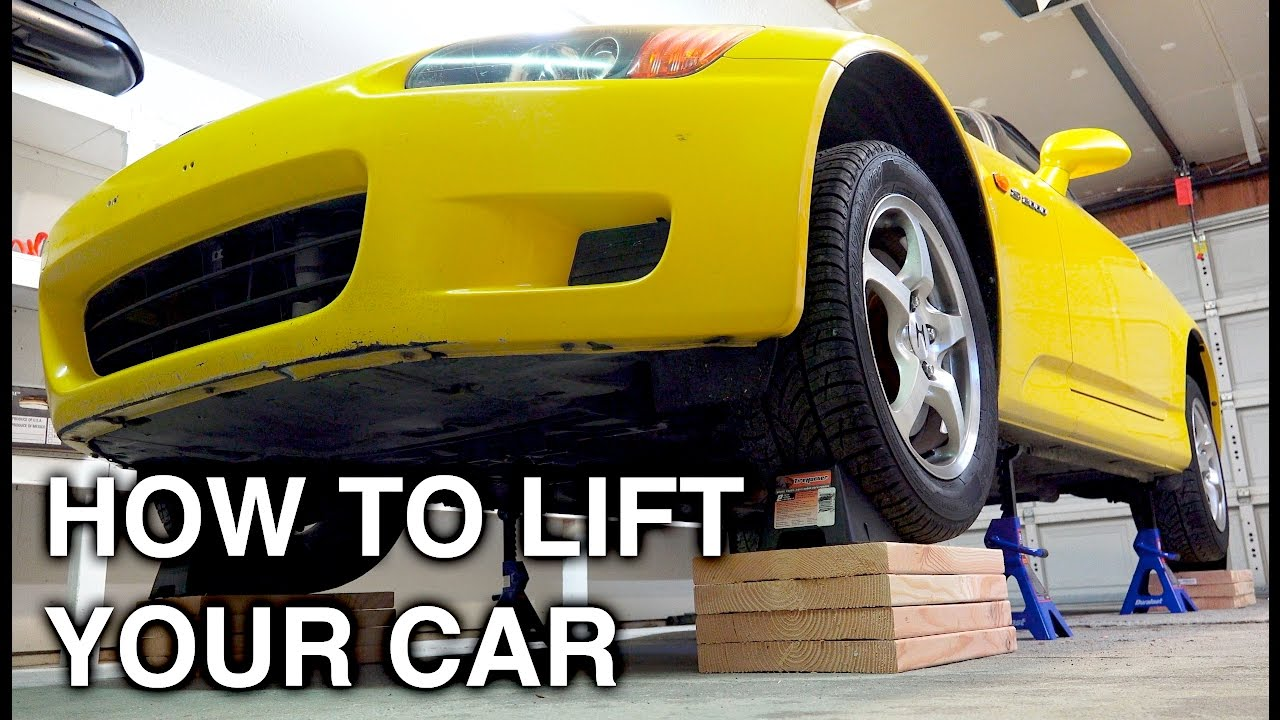 How To Completely Lift A Car On All Four Jack Stands - YouTube
