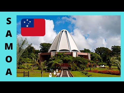 SAMOA, the stunning BAHA'I HOUSE OF WORSHIP in APIA (South Pacific Ocean)