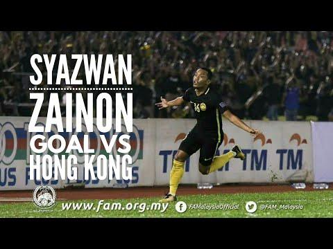 Gol syazwan Zainon untuk Malaysia lwn Hong Kong 05-09-2017