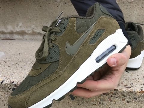 Nike Wmns Air Max 90 Premium Dark Loden Ivory 443817 300 | Sneakersenzo