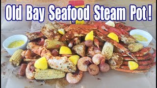 Old Bay Seafood Pot | Steamed NOT Boiled! | King Crab | Snow Crab | Shrimp & The Fixin's