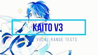 【Kaito V3】 Low Vocal Range Tests 【Vocaloid】