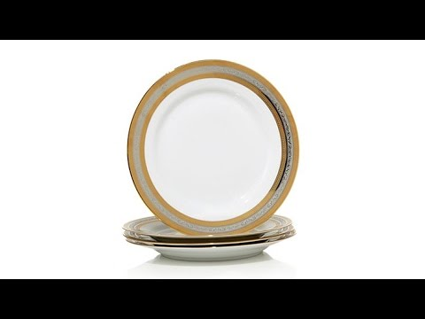 Colin Cowie Set of 4 Porcelain Dinner Plates  sc 1 st  YouTube & Colin Cowie Set of 4 Porcelain Dinner Plates - YouTube