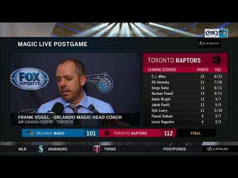 Frank Vogel -- Orlando Magic vs. Toronto Raptors 04/08/2018