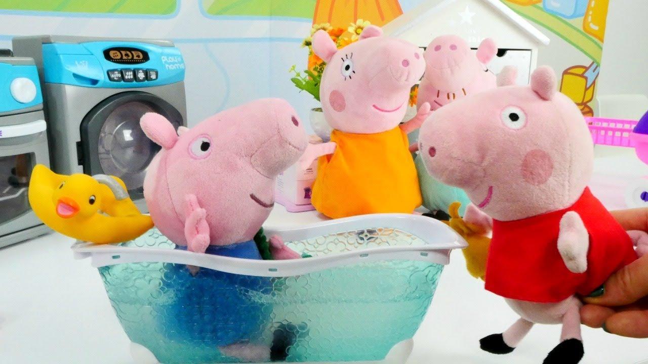 Vídeos de Peppa Pig - Preparamos el baño para George ...
