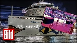 Panik auf der Aida - Megawellen / Flucht aus Party-Raum