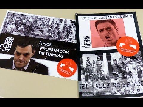 Empapelan con propaganda franquista la sede del PSOE de Guadalajara: '¡El Valle no se toca!'