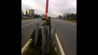 highway wind turbine street light