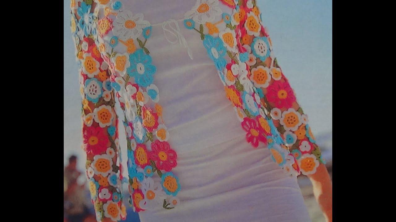 Como hacer saco con flores a crochet youtube - Como hacer flores de ganchillo ...