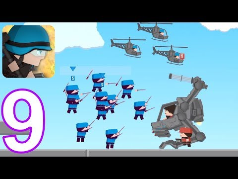 Clone Armies - Walkthrough Gameplay Part 9 - 14 Level The Outpost (iOS, Android)