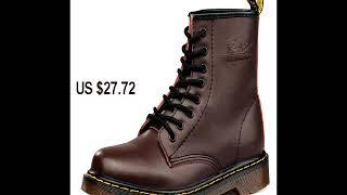 Brand men's shoes, leather winter warm shoes Martens