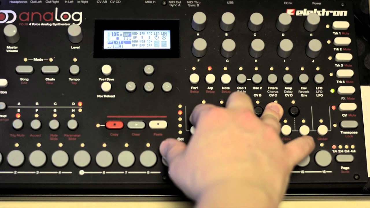 tutorial using the analog four to control a modular synth part 1 youtube. Black Bedroom Furniture Sets. Home Design Ideas