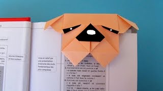 Origami : Marque-page Chien Bouledogue
