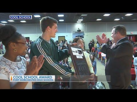 Fort Dorchester High School receives the News 2 Cool School award