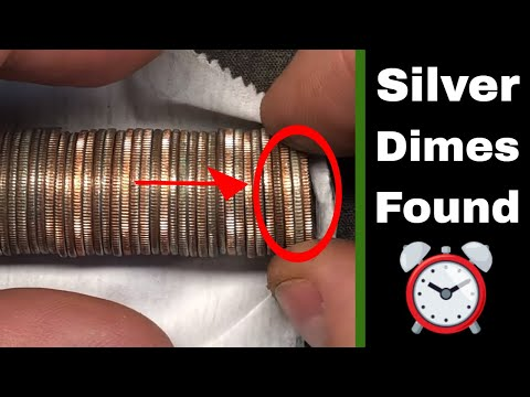 Silver Dimes Found Coin Roll Hunting - DIME TIME