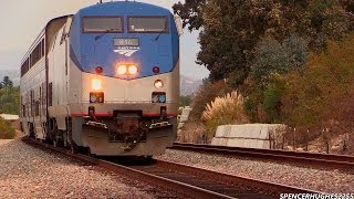 Amtrak, BNSF & Metrolink Trains in Laguna Niguel & San Juan Capistrano (January 24th, 2014)