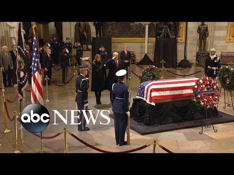 Trump, Clinton, Obama to gather for Bush's funeral