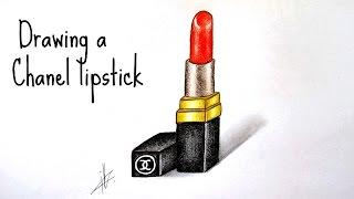 Comment dessiner un rouge à lèvres Chanel