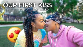 *Kissing* my Girlfriend in public for the FIRST TIME😍 & this happened | EZEE X NATALIE