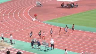 〈2017〉福岡県中学陸上 3年男子100m予選3組 石井慶 検索動画 12