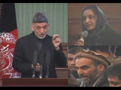 داغ ترين سوالات دو ژورناليست از حامد کرزی در مورد پيمان امنيتی Karzai replies